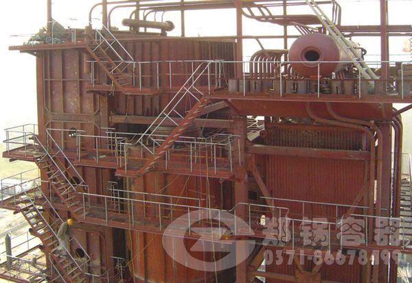 吉林敦化46MW角管式热水锅炉