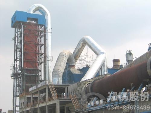 新疆水泥厂购买郑锅35吨水泥窑余热锅炉