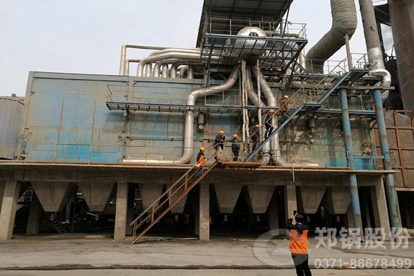 湖北25吨/小时三废混燃余热蒸汽锅炉项目图