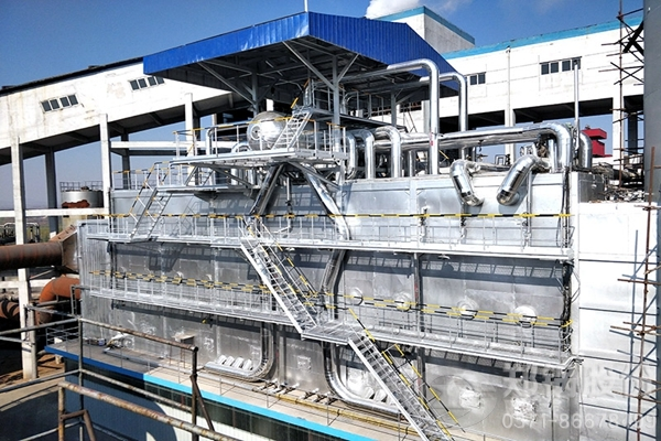 河北保定49吨/时三废混燃烟气余热回收锅炉项目图