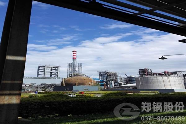 吉林康乃尔120吨/小时三废混燃余热蒸汽锅炉图
