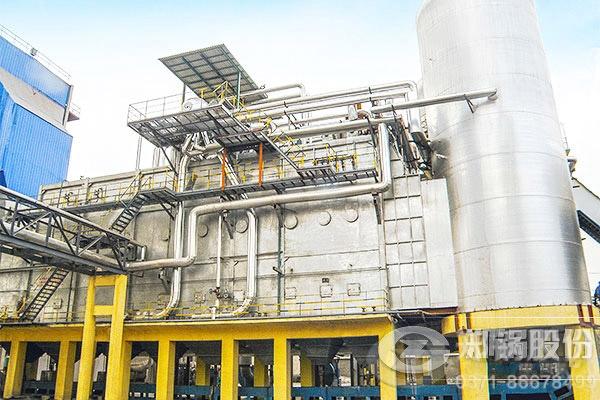 河南开封60吨/小时三废混燃余热蒸汽锅炉项目图