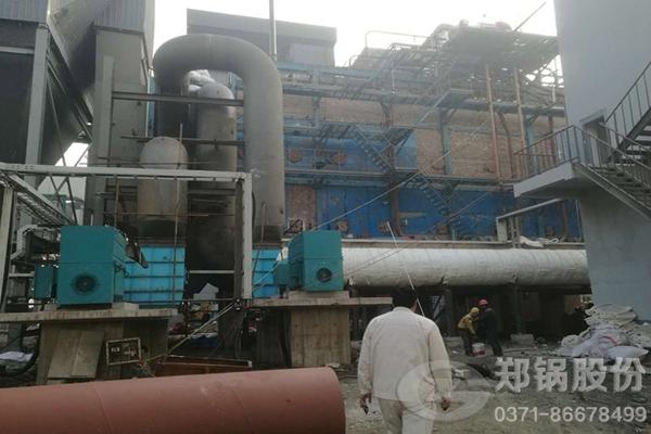邦力化工75吨/小时余热锅炉现场图