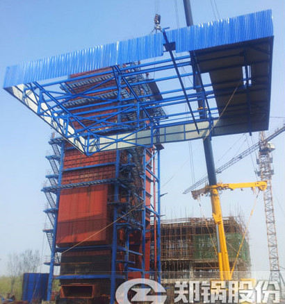 150吨流化床电站锅炉水冷壁安装现场.jpg